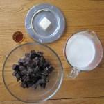makings of chocolatesauce