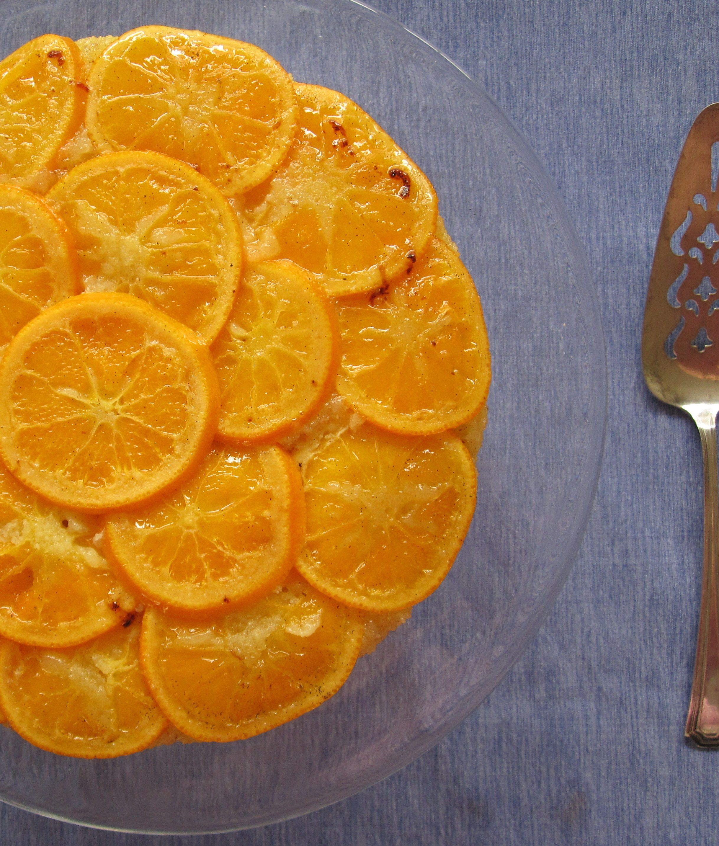 Satsuma Vanilla Upside-down Cake | My Pantry Shelf