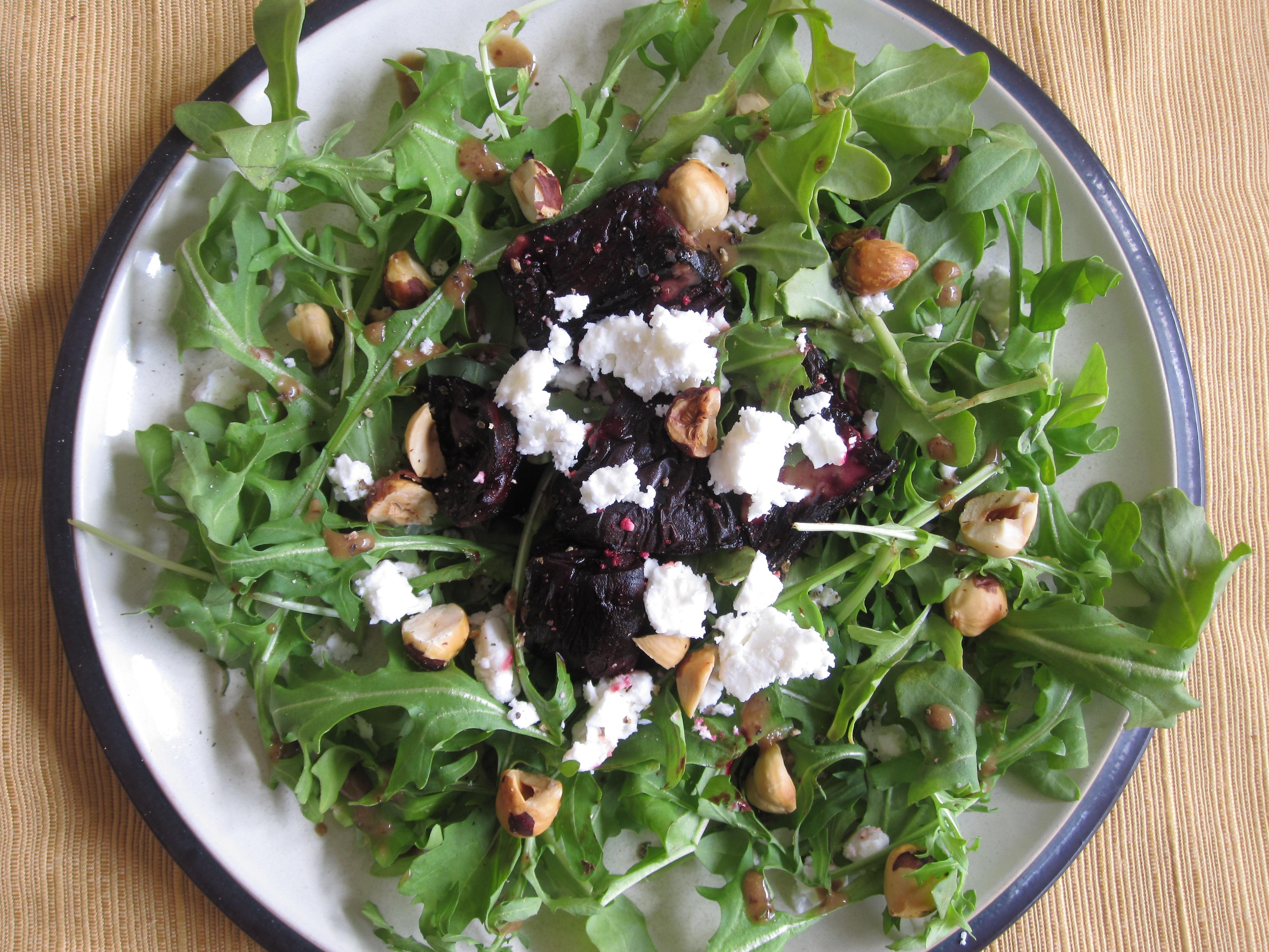 Roasted Beet and Hazelnut Salad with Feta | My Pantry Shelf