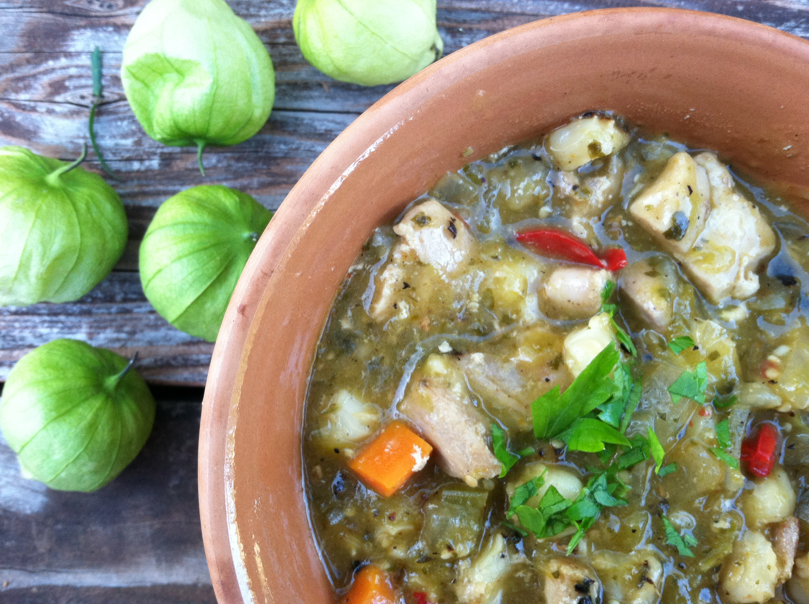 Chicken Chile Verde With Hominy My Pantry Shelf