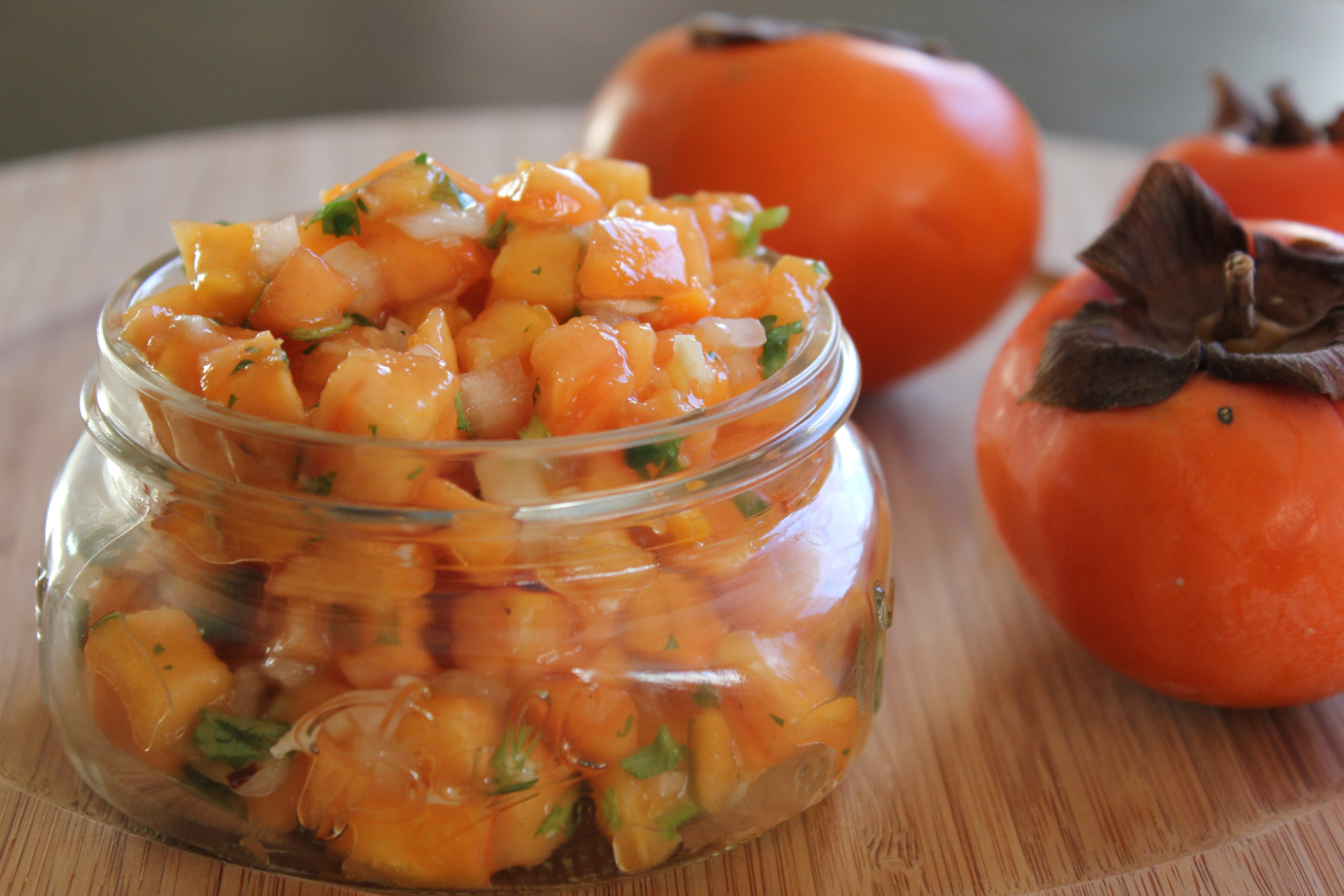 Fuyu Persimmon Salsa from My Fuyu Persimmons