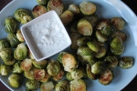 Roasted Brussels Sprouts with Blue Cheese Dip @ My Pantry Shelf