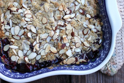 Ollalie Berry Basil Crisp from My Pantry Shelf